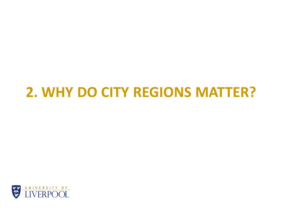 2. WHY DO CITY REGIONS MATTER