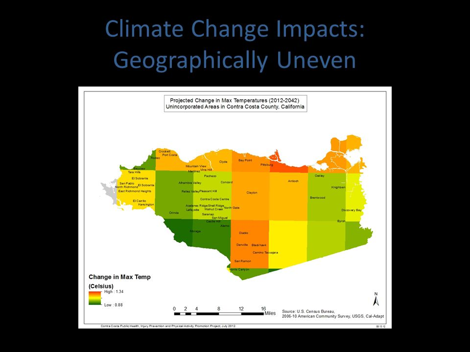 Climate Change Impacts: Geographically Uneven