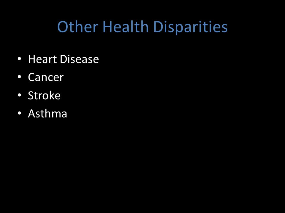 Vulnerable Populations Experience Health Disparities Income Race Education Gender/Sex Linguistic Isolation Age Chronic Conditions Disability Geography – Access to Resources – Access to Health Promoting Destinations (Health Care, Healthy Food, School, Family, Etc.) – Neighborhood Cohesion – Proximity to Toxins