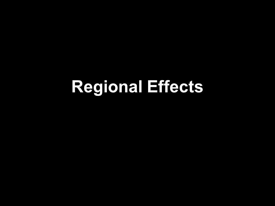 Regional Effects