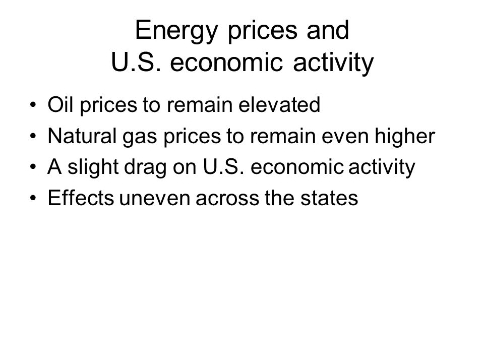 Energy prices and U.S.