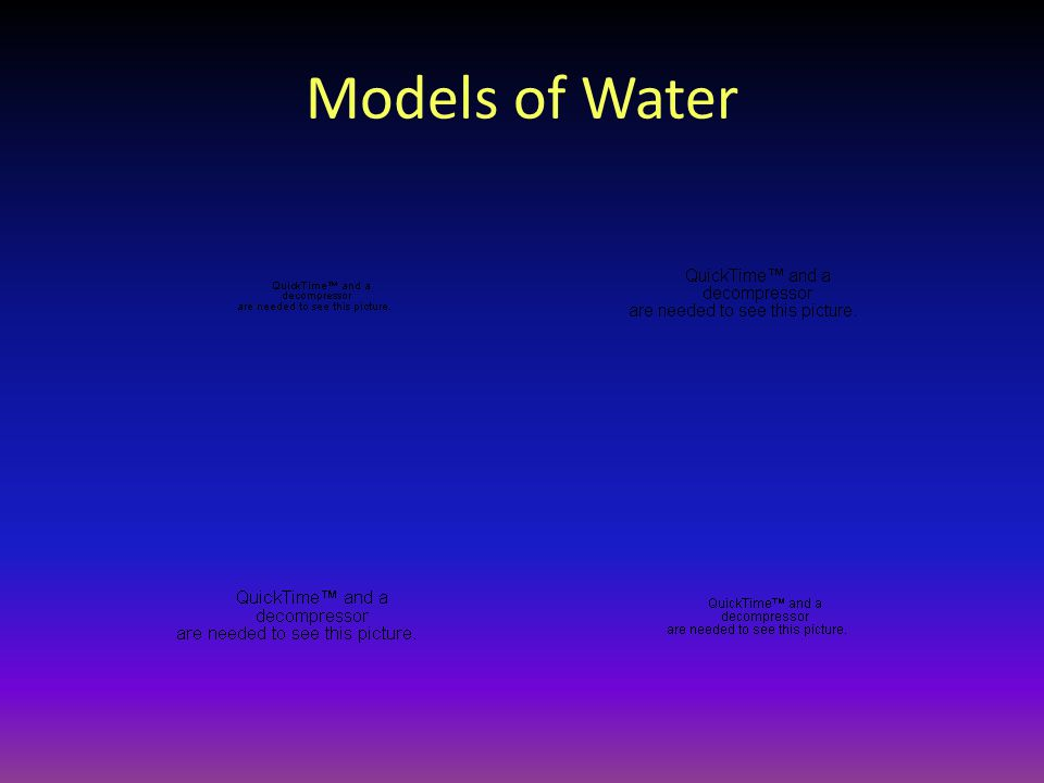 Models of Water