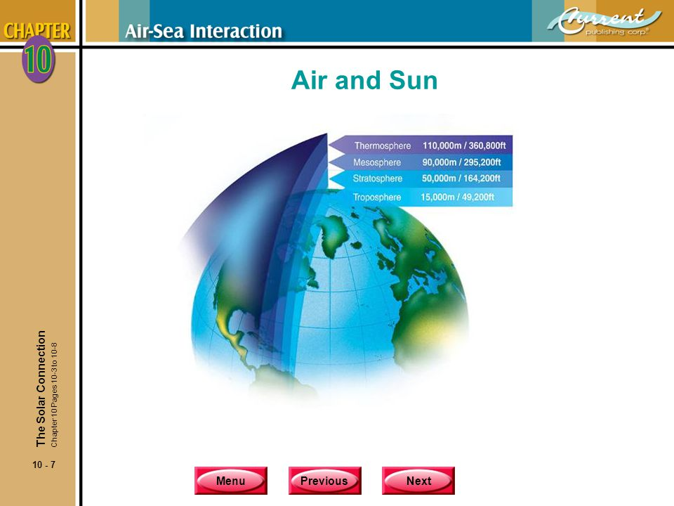 MenuPreviousNext 10 - 38 Intertropical Convergence Zones and Atmospheric Heat Engine The World's Major Deserts The Winds Chapter 10 Pages 10-21 to 10-22