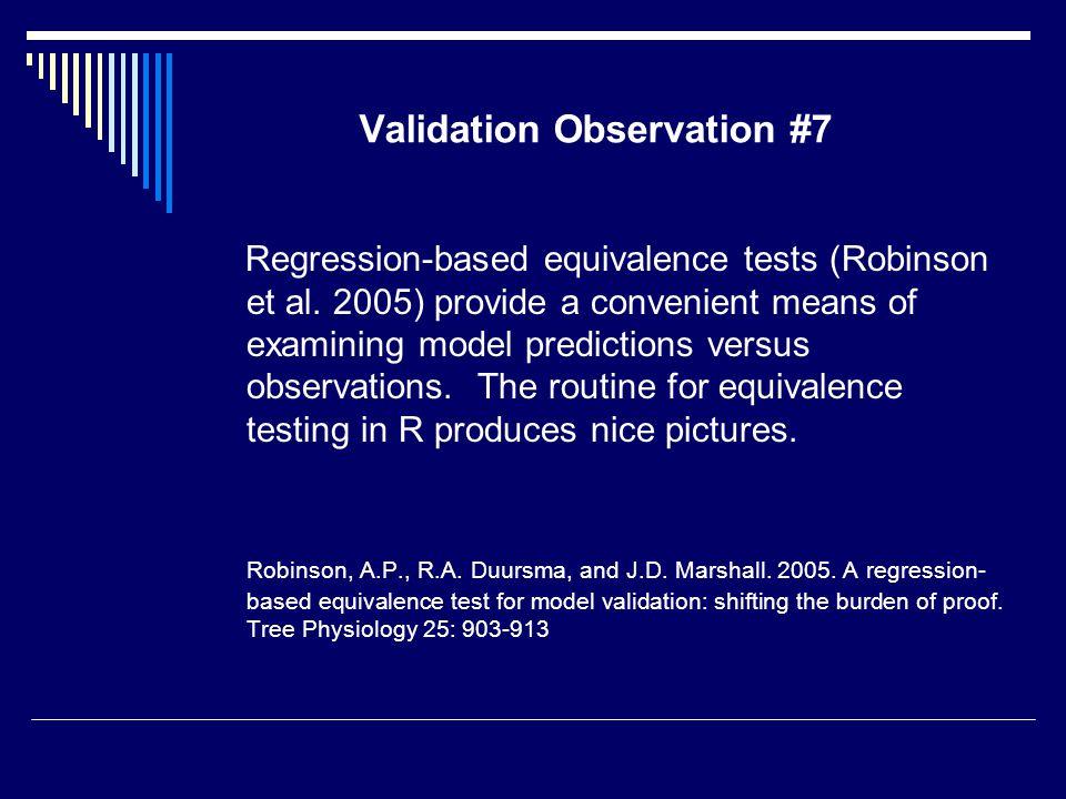 Validation Observation #7 Regression-based equivalence tests (Robinson et al.