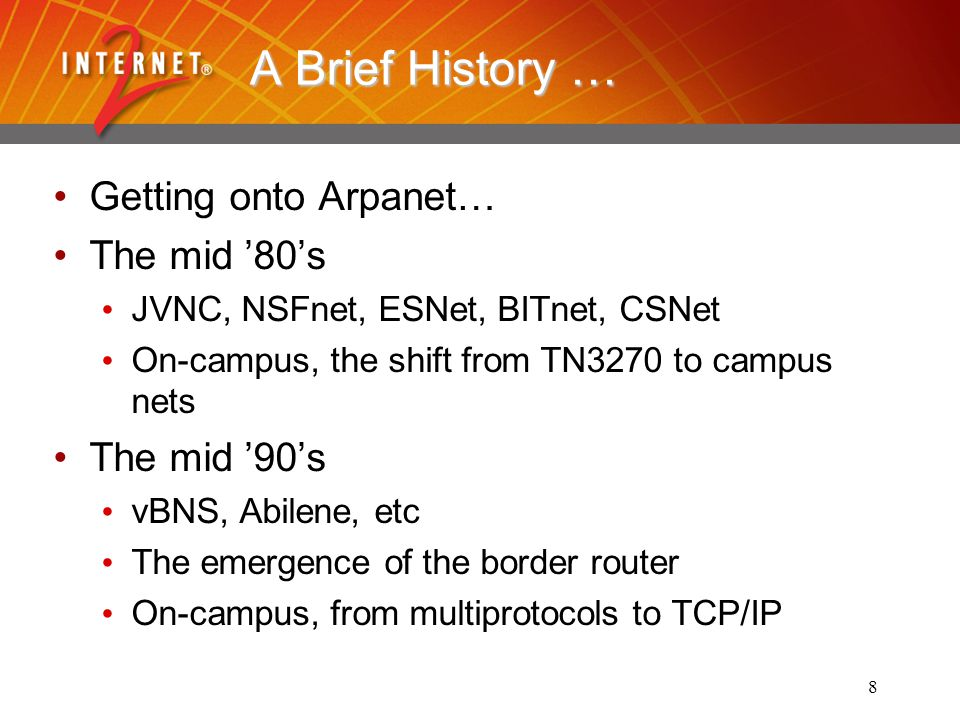 9 And now… A major R&E institution has several external connections, with distinct characteristics (performance, AUP's, etc.) Complex campus networks, with high- performance meshes, lower-speed extensions, clusters of advanced nets, etc.