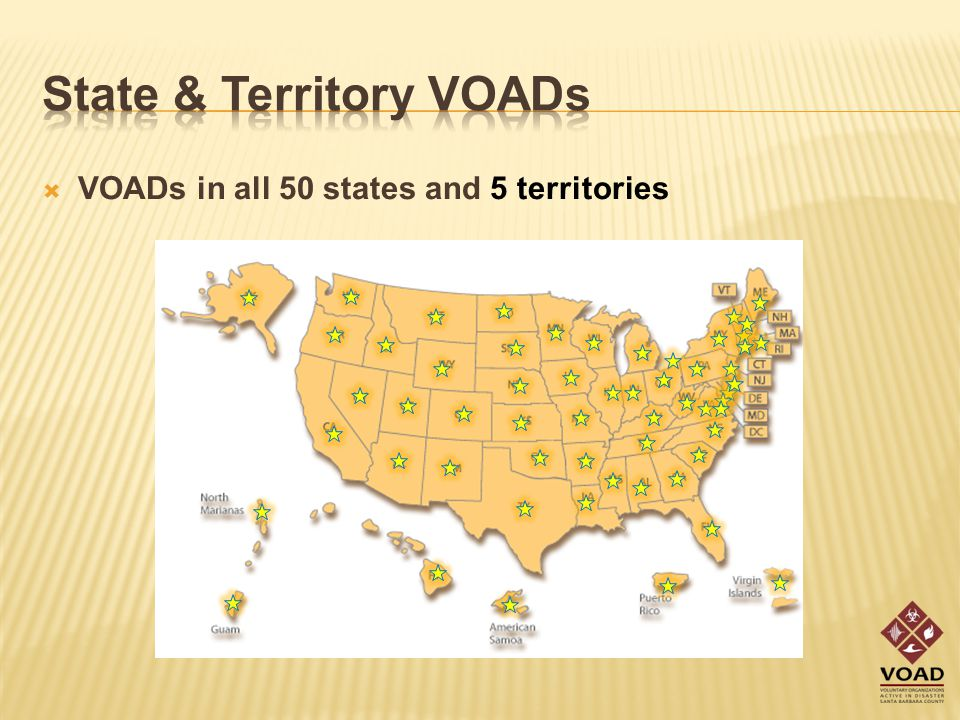  VOADs in all 50 states and 5 territories