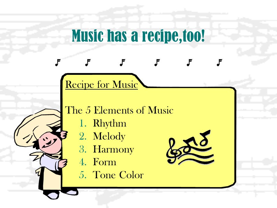 Music has a recipe,too.