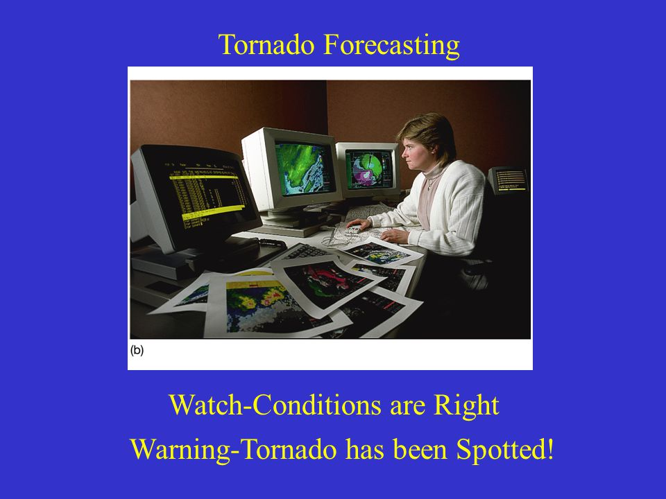 Tornado Forecasting Watch-Conditions are Right Warning-Tornado has been Spotted!