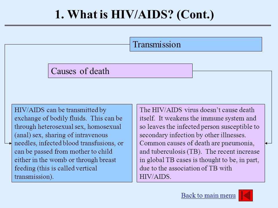 2.Studying HIV/AIDS Back to main menu Why Study HIV/AIDS.