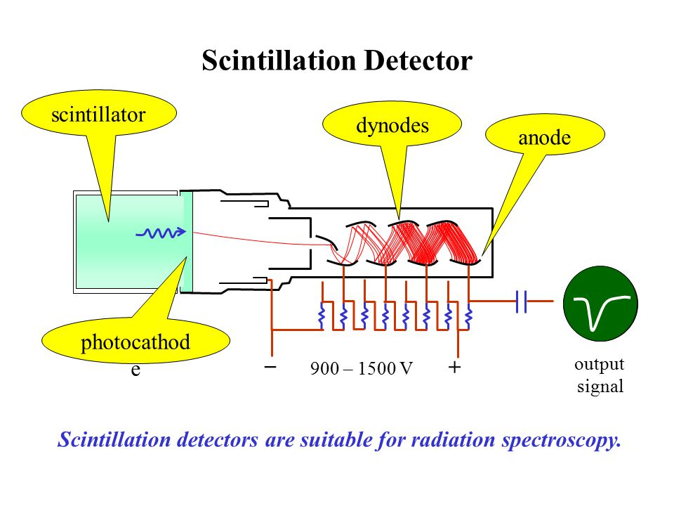Scintillation Statistics channel counts Monoenergetic radiation results in a response distributed about the most probable value.