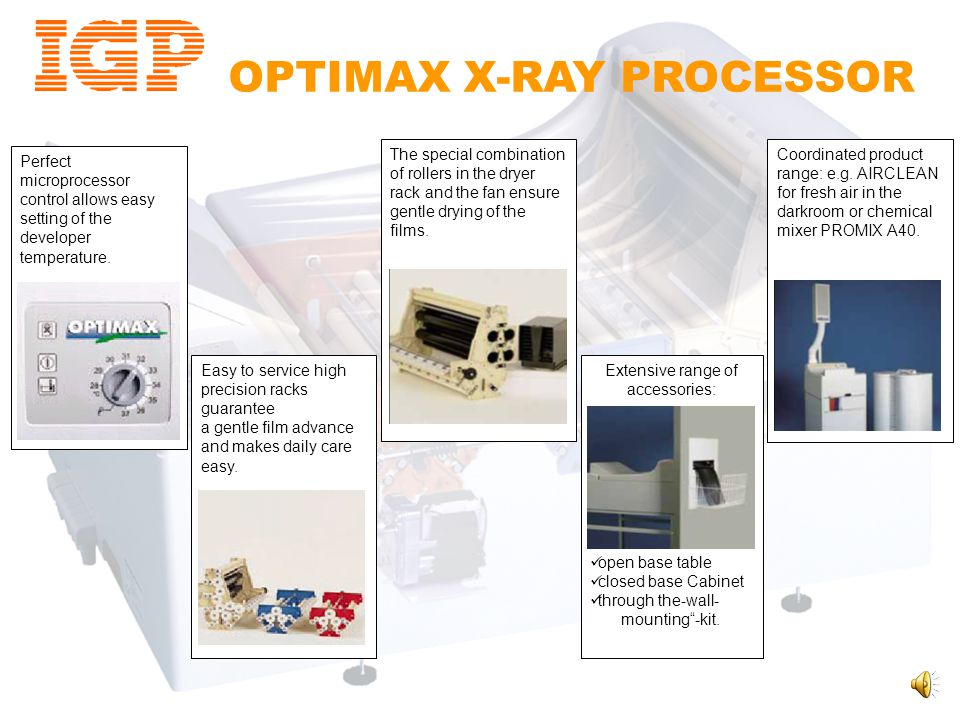 OPTIMAX DAYLIGHT LOADER Optional Daylight Loader The Optional Daylight Loader is designed for excellent results – in daylight! There are 3 integrated