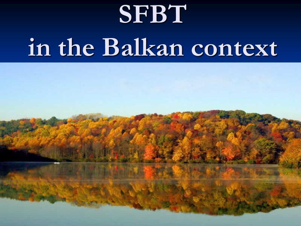 SFBT in the Balkan context