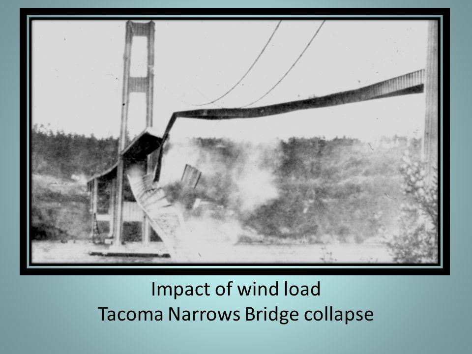 Impact of wind load Tacoma Narrows Bridge collapse