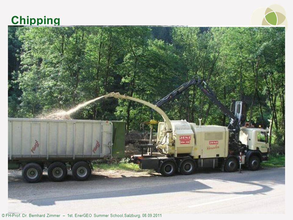 © FH-Prof. Dr. Bernhard Zimmer – 1st. EnerGEO Summer School,Salzburg, 08.09.2011 Chipping