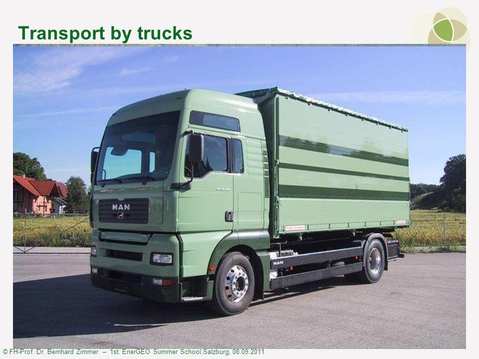 © FH-Prof. Dr. Bernhard Zimmer – 1st. EnerGEO Summer School,Salzburg, 08.09.2011 Transport by trucks