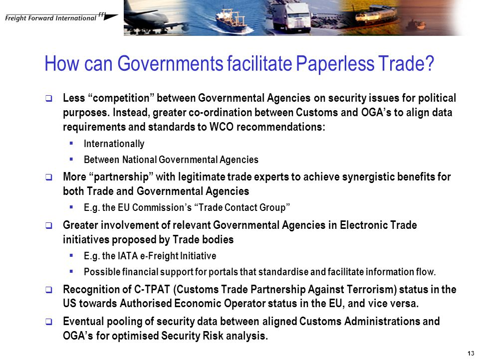 13 How can Governments facilitate Paperless Trade.