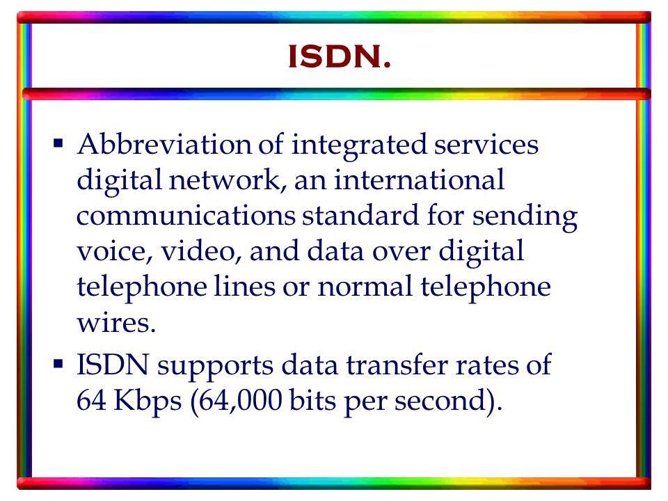 ISDN.