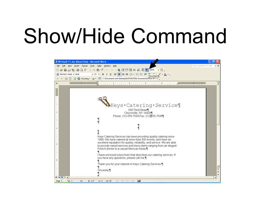 Show/Hide Command