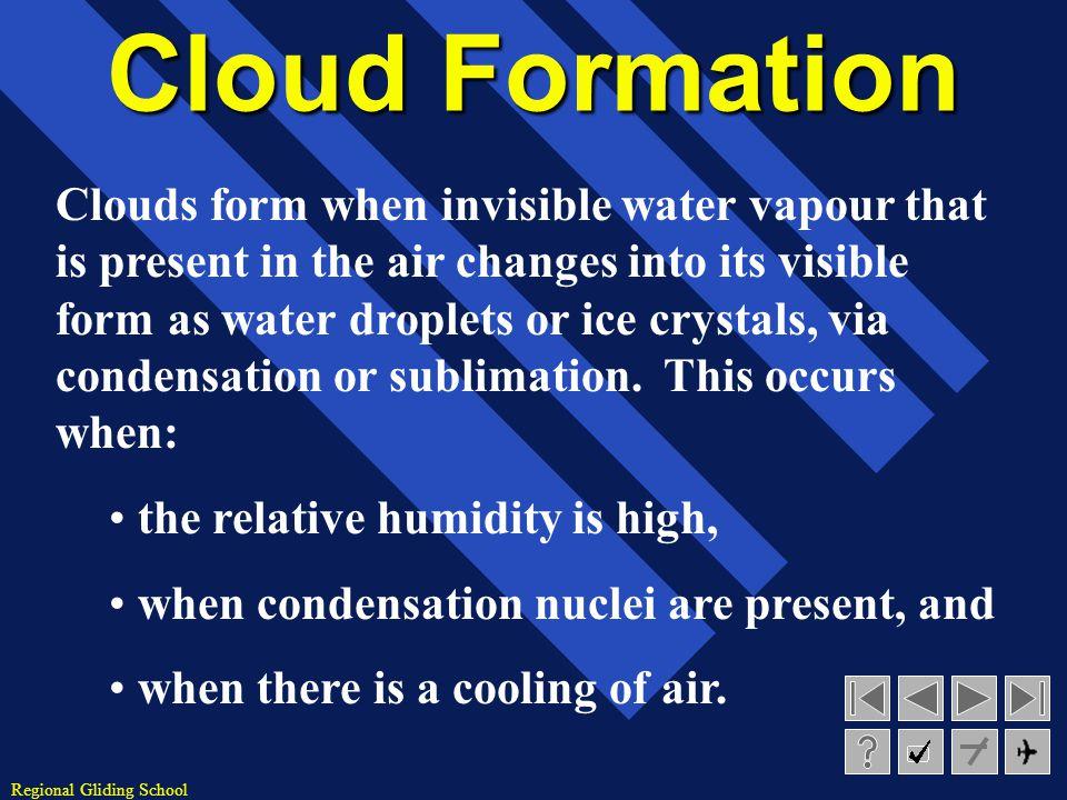Regional Gliding School FRONTAL FOG SATURATION OF COLD AIR BY EVAPORATION OF FALLING PRECIPITATION FOG NS ST 32