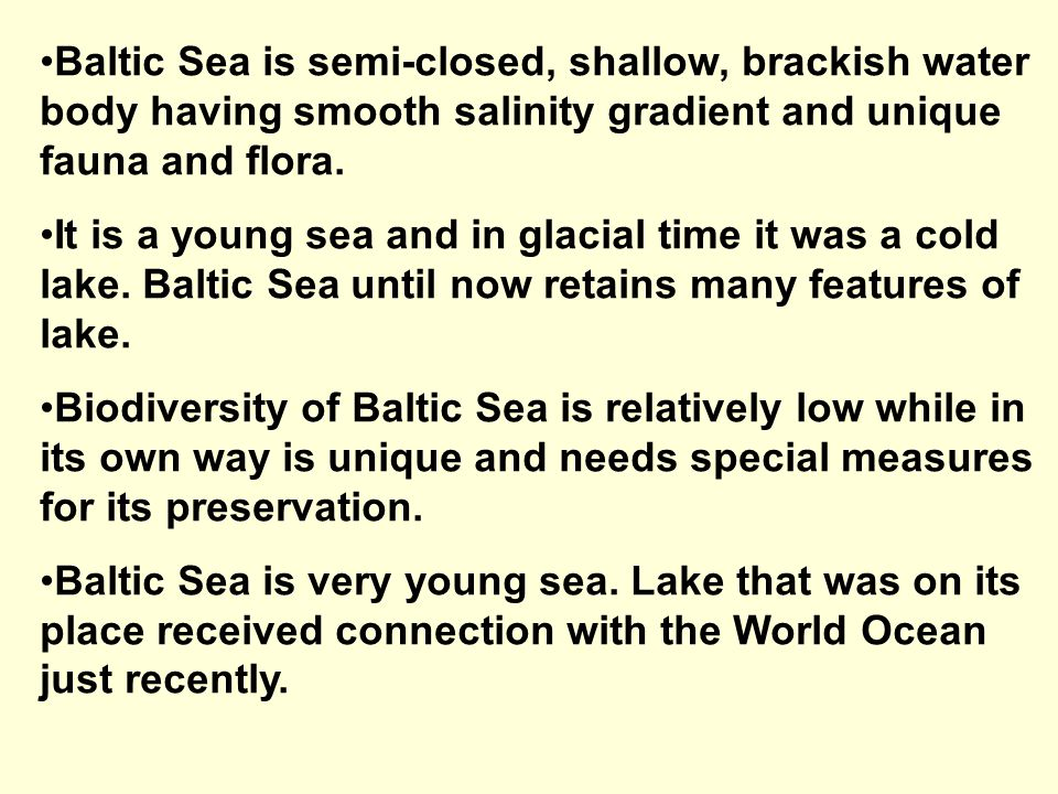Sub-regions of Baltic Sea 1.Baltic proper 2.Kattegat and Belt Sea 3.Gulf of Bothnia 4.Gulf of Finland 5.Gulf of Riga 6.Curonian lagoon 7.Vistula lagoon 8.Oder/Odra lagoon
