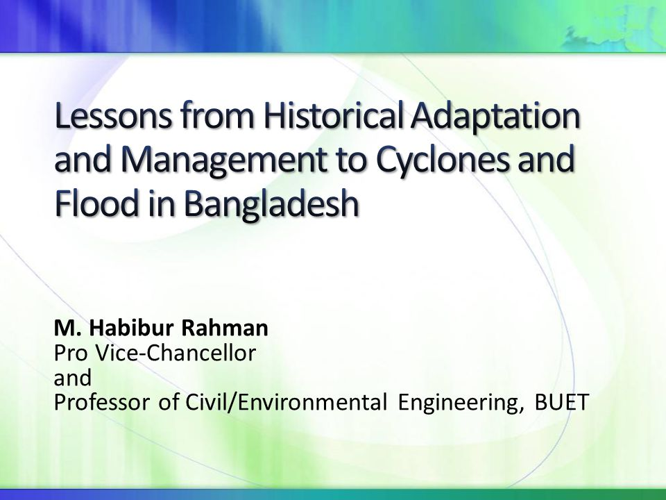 Bangladesh is exposed to various natural hazards, such as Floods River erosion Cyclones Tornadoes Droughts Cold waves Earthquakes Drainage congestion/ water logging Arsenic contamination Salinity intrusion etc.