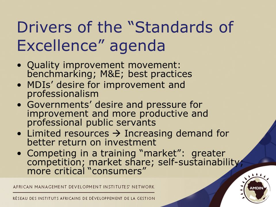 Two main dimensions of quality –Programme development and review –Programme content –Programme management –Programme performance InstitutionalProgrammatic