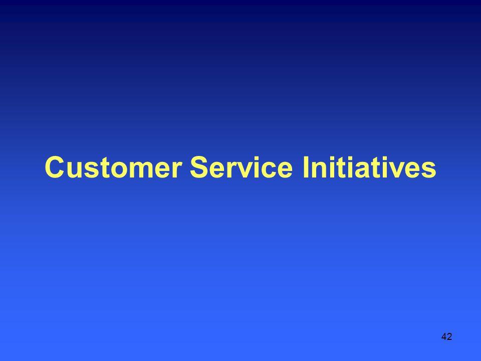 42 Customer Service Initiatives
