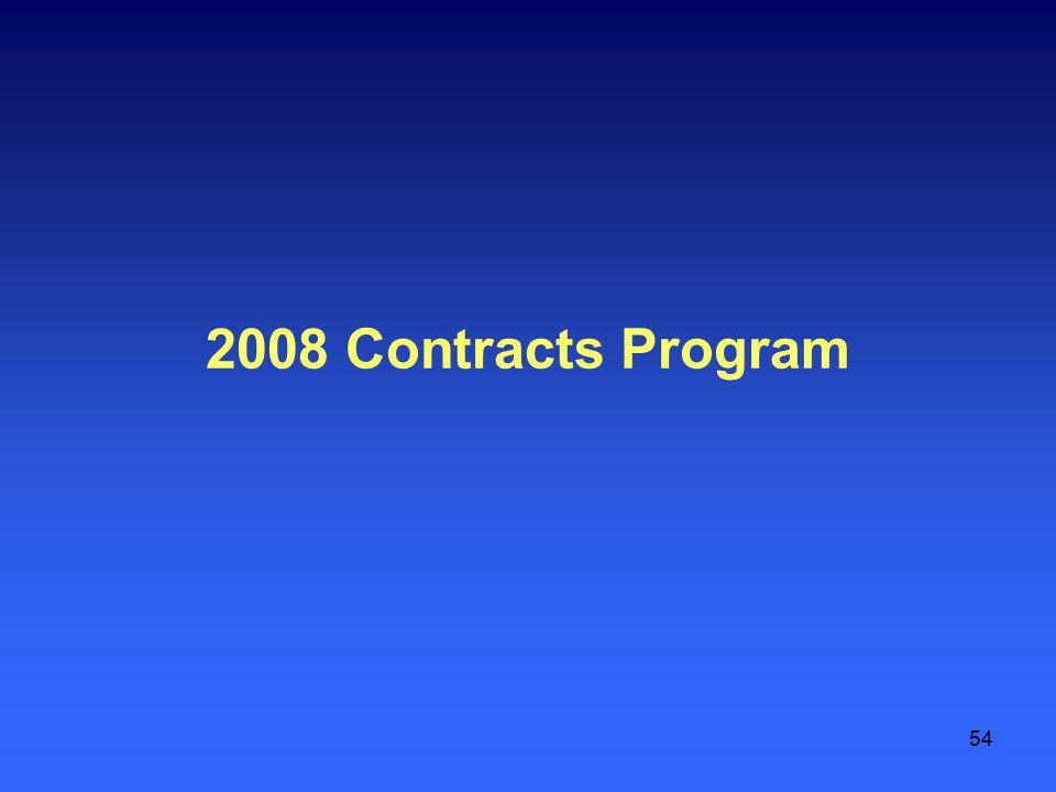 54 2008 Contracts Program