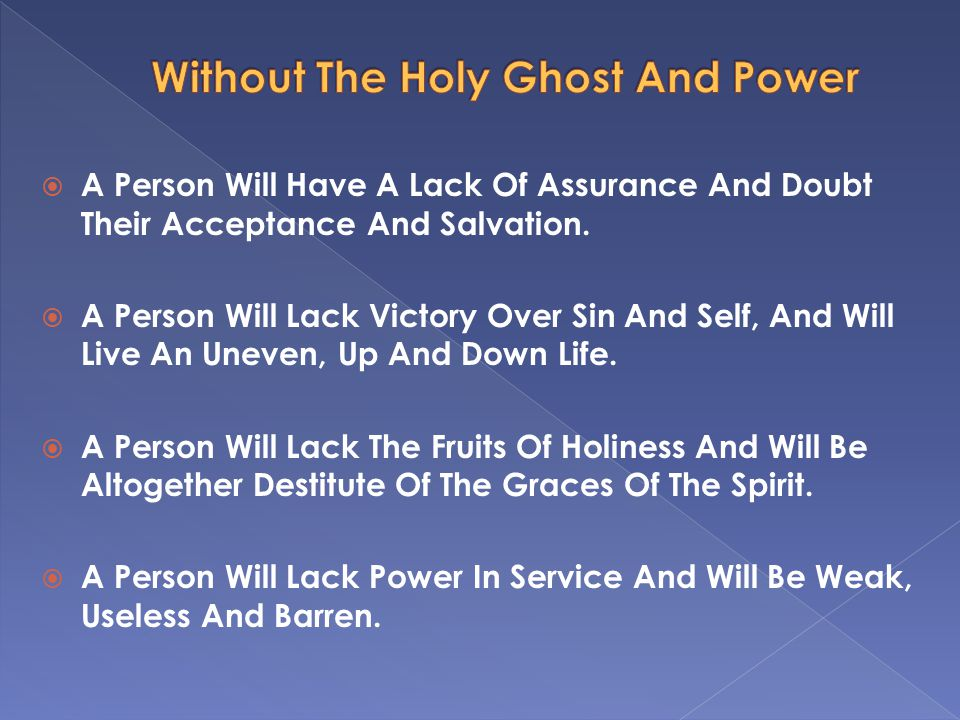 All Christians Must Realize The Vital Importance Of Receiving The Power.