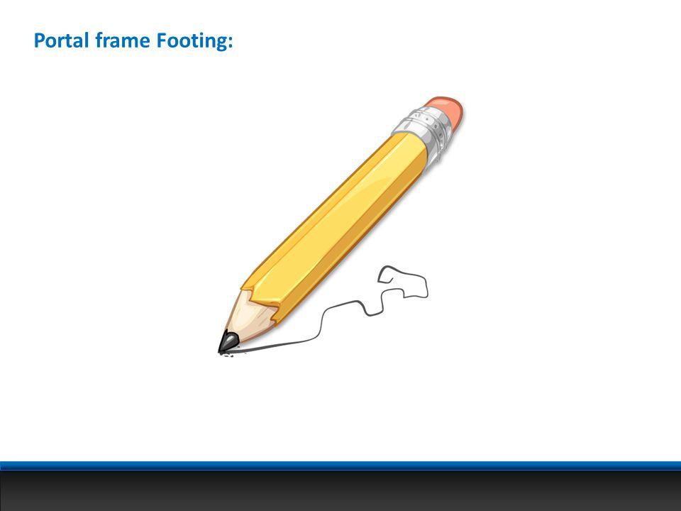 Portal frame Footing: