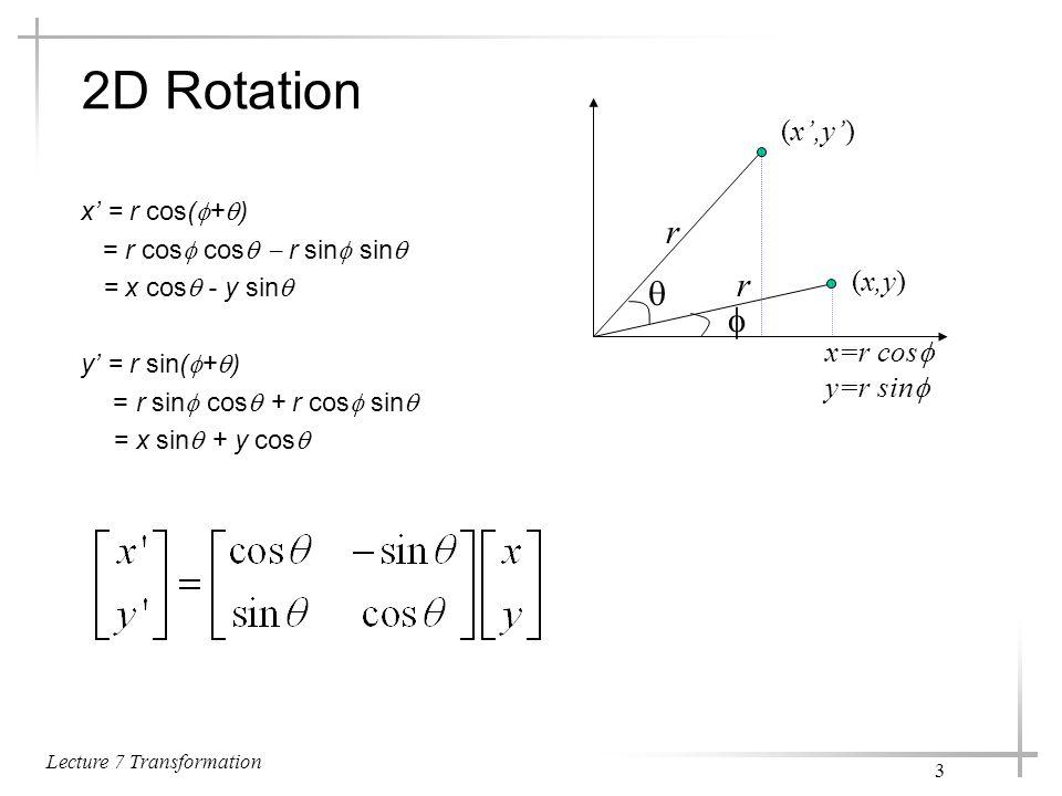 Lecture 7 Transformation 14 5.
