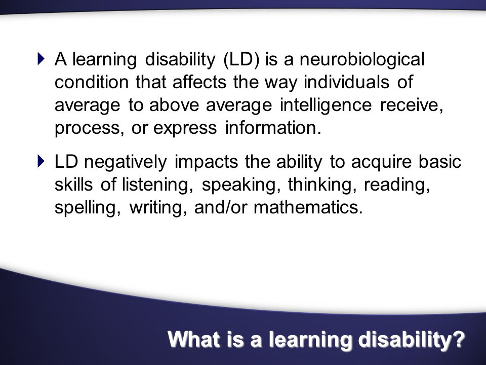LD Study 2003  What skills do these individuals most likely have .