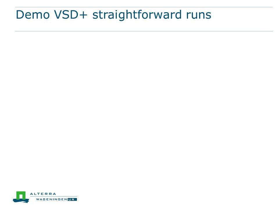 Demo VSD+ straightforward runs