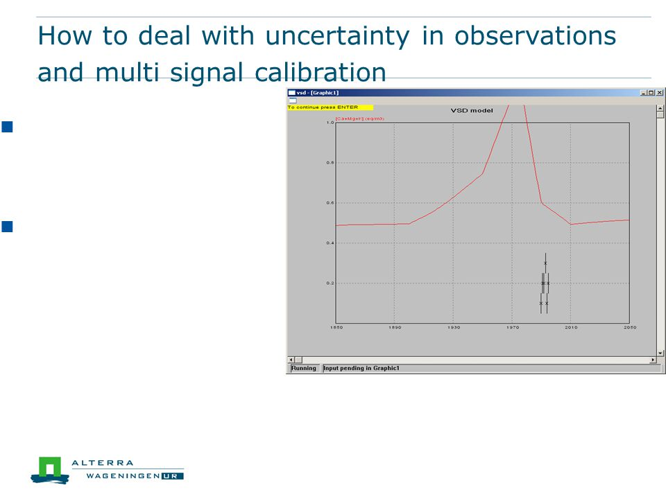 How to deal with uncertainty in observations and multi signal calibration Often there is uncertainty in the measurements We have output parameters that are influenced by more than one input parameter