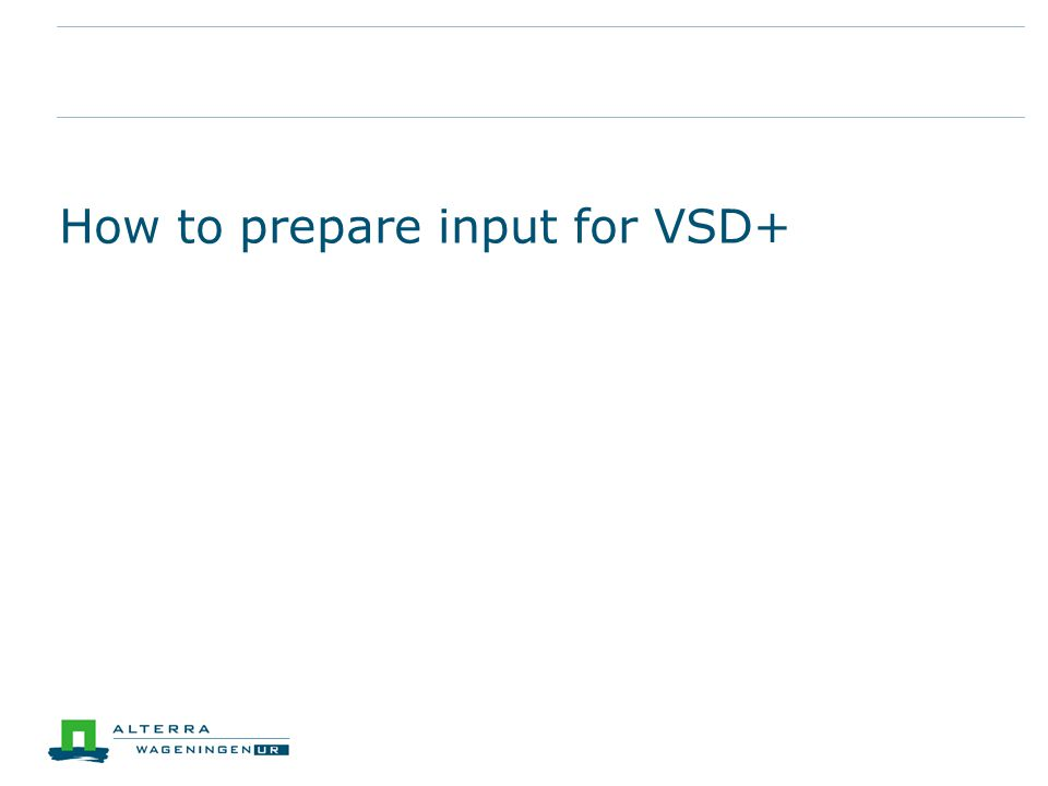 How to prepare input for VSD+
