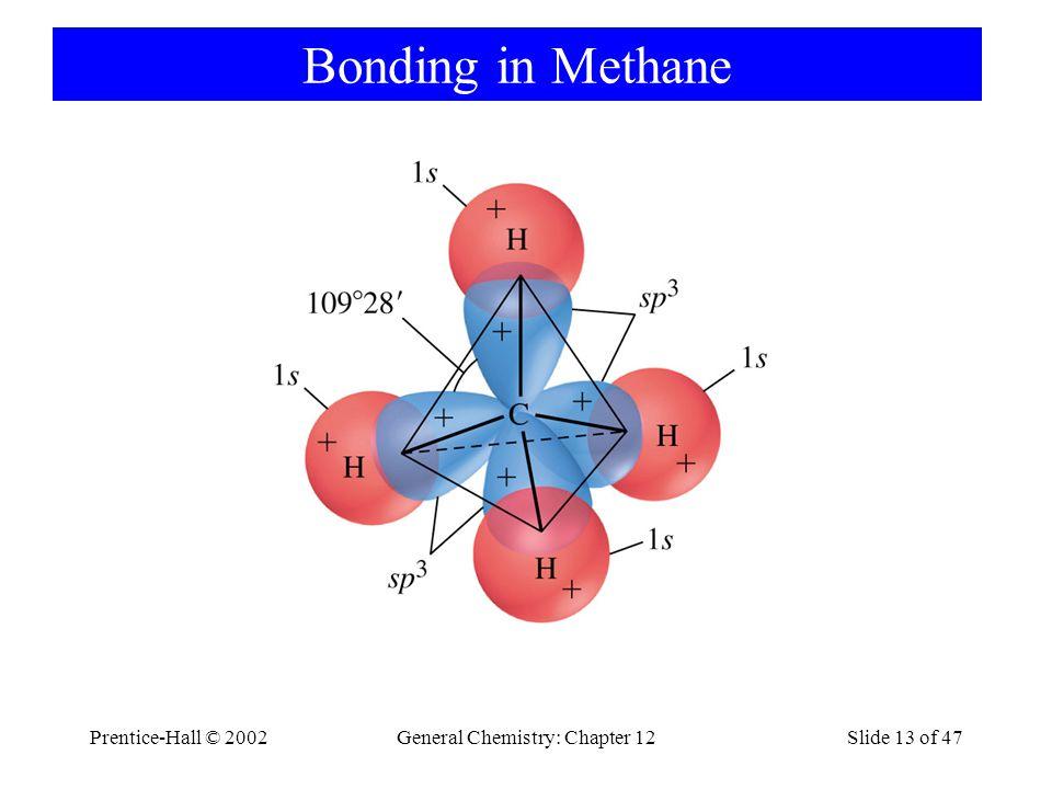Prentice-Hall © 2002General Chemistry: Chapter 12Slide 13 of 47 Bonding in Methane