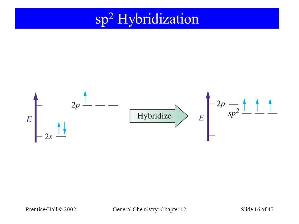Prentice-Hall © 2002General Chemistry: Chapter 12Slide 16 of 47 sp 2 Hybridization