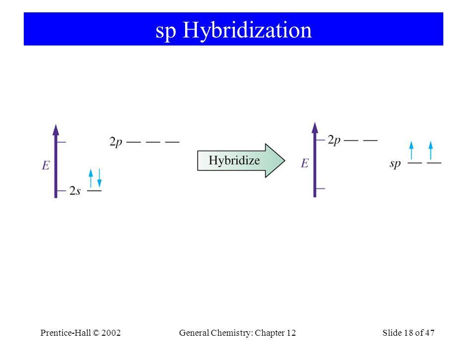 Prentice-Hall © 2002General Chemistry: Chapter 12Slide 18 of 47 sp Hybridization
