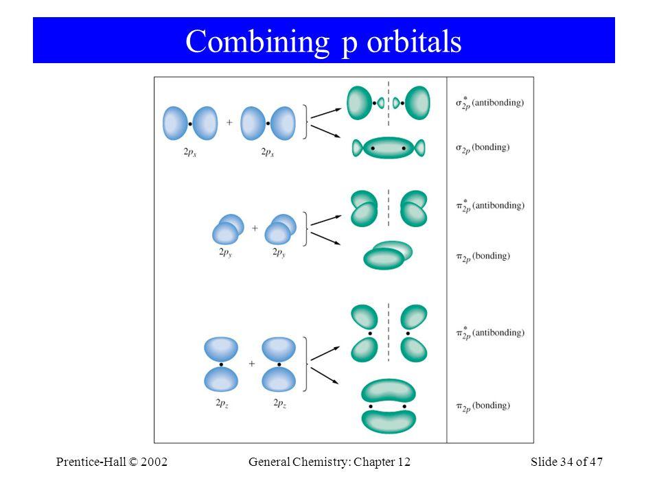 Prentice-Hall © 2002General Chemistry: Chapter 12Slide 34 of 47 Combining p orbitals