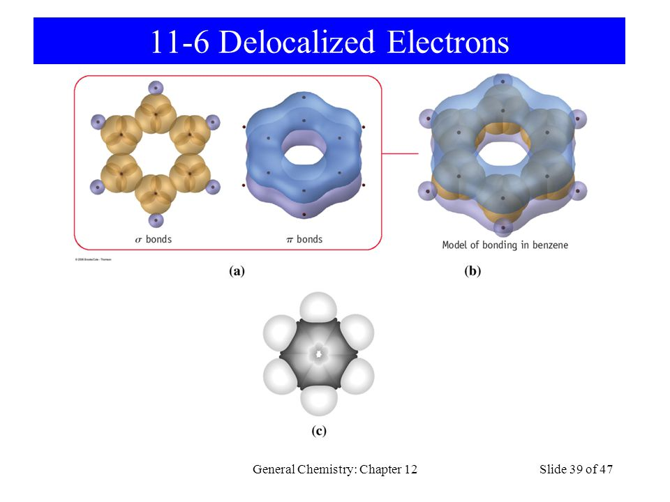 General Chemistry: Chapter 12Slide 39 of 47 11-6 Delocalized Electrons