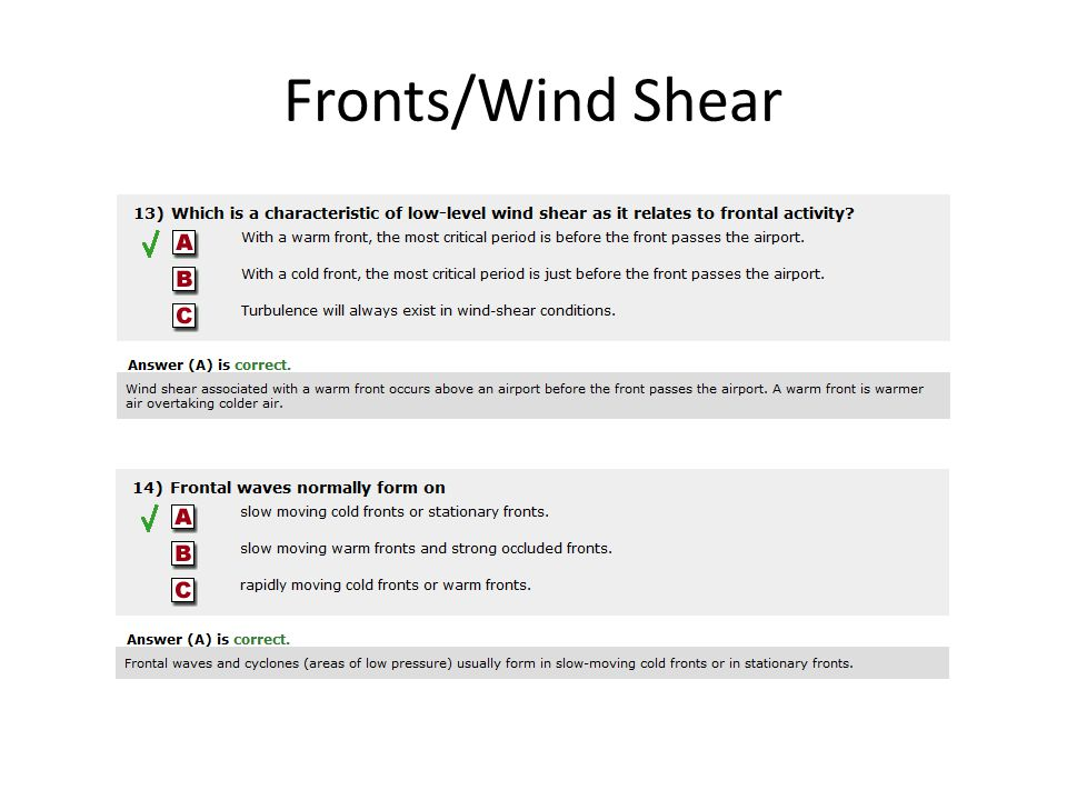 Fronts/Wind Shear