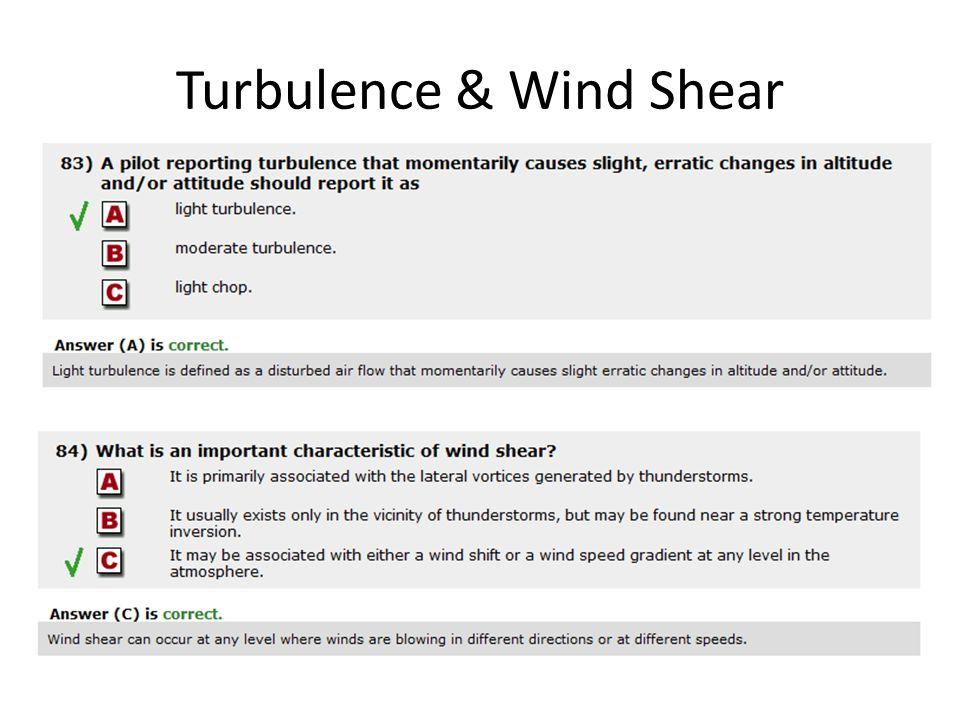 Turbulence & Wind Shear