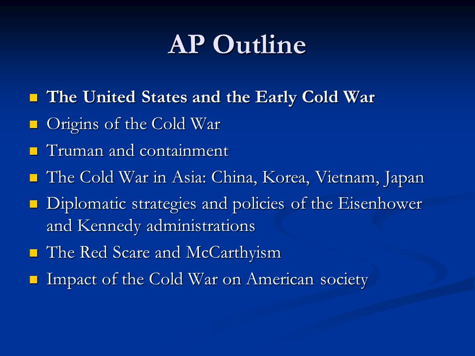 essay questions for the cold war