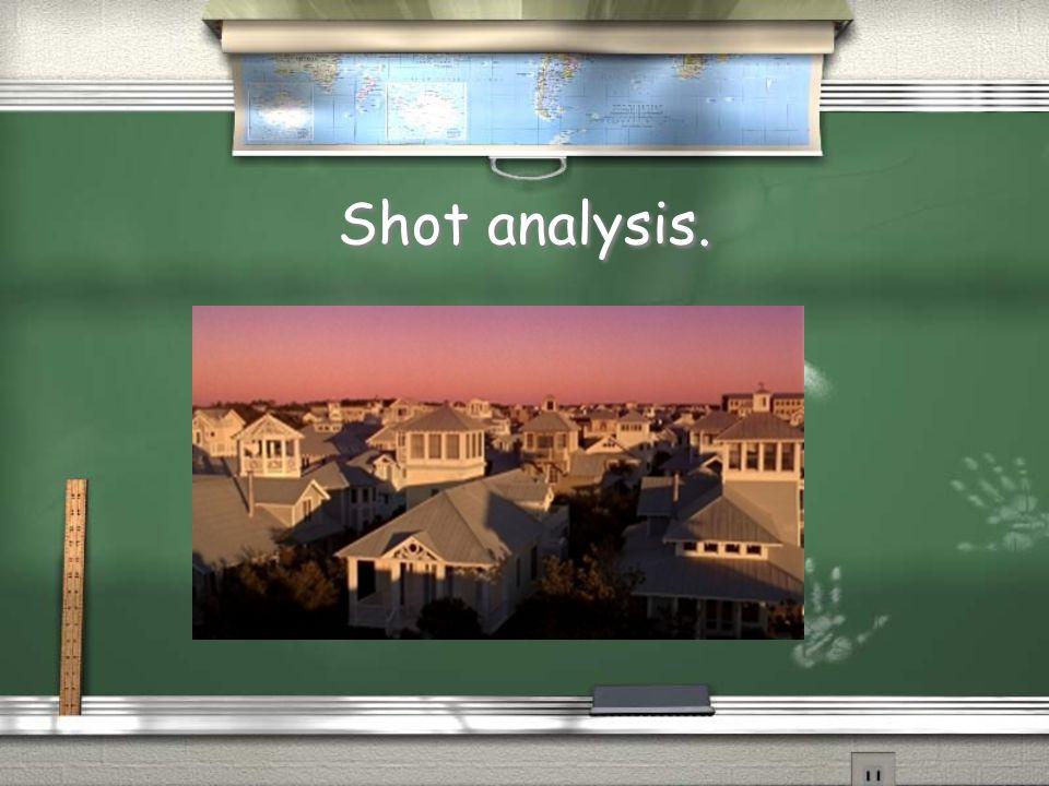 Shot analysis.