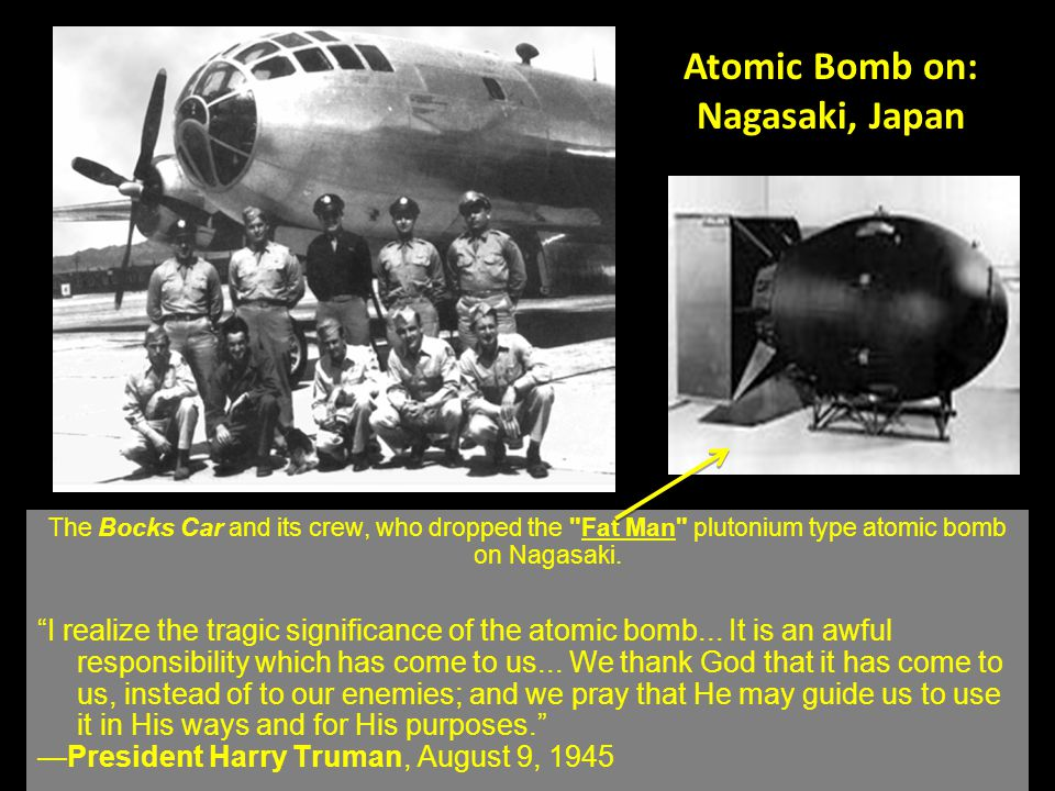 Nagasaki, Japan Population: 240,000 Before the atomic bomb After the atomic bomb –75,000 dead –½ city destroyed