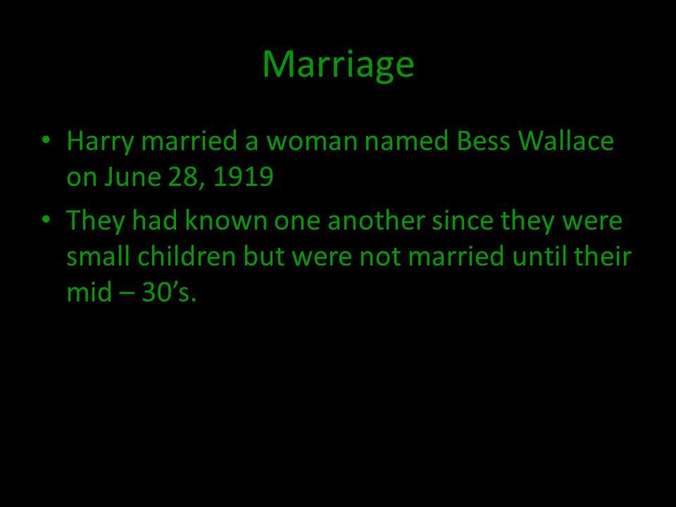 Children Harry and Bess Truman had one child.