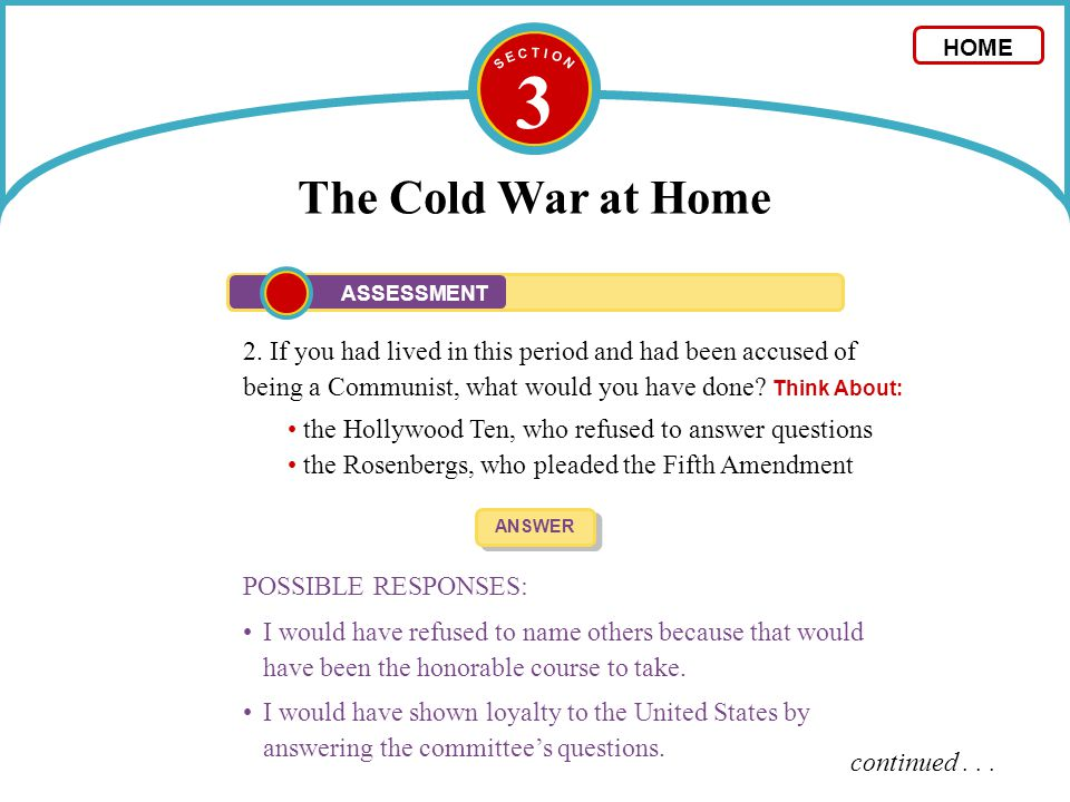 3 The Cold War at Home 2.