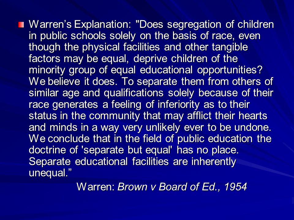 Warren's Explanation: