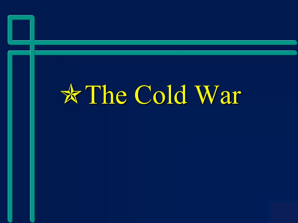  The Cold War