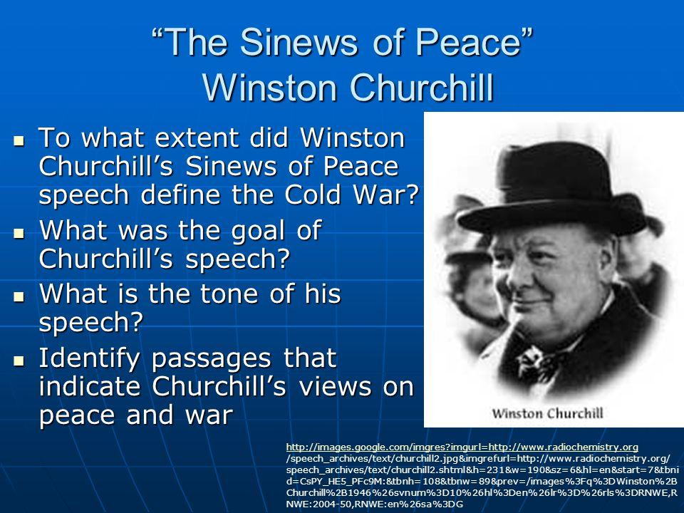 Stalin's Response How does Stalin describe Winston Churchill.